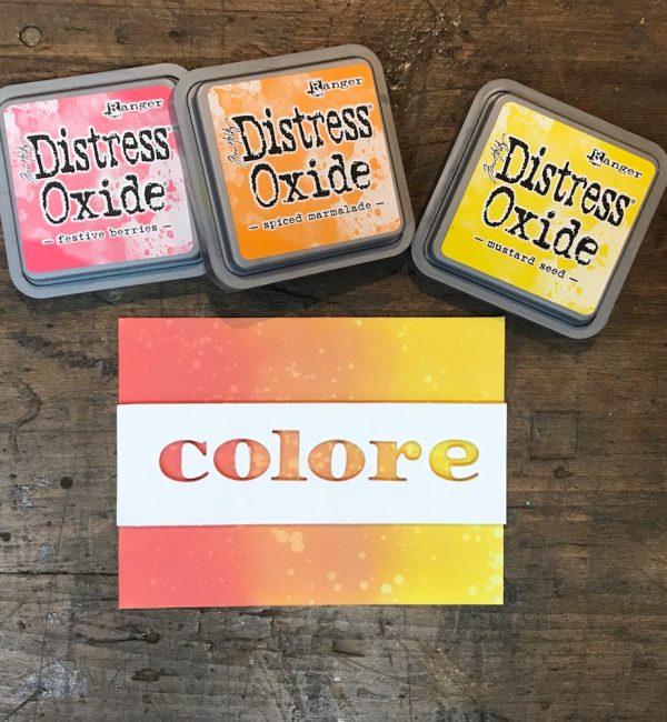 Colorare con i Distress Oxide