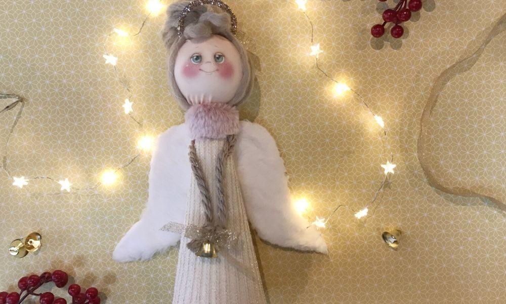 DIY Angioletto di Natale Polistirolo